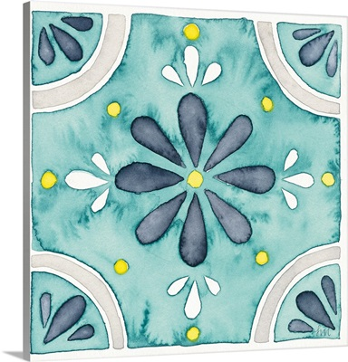 Garden Getaway Tile I Teal