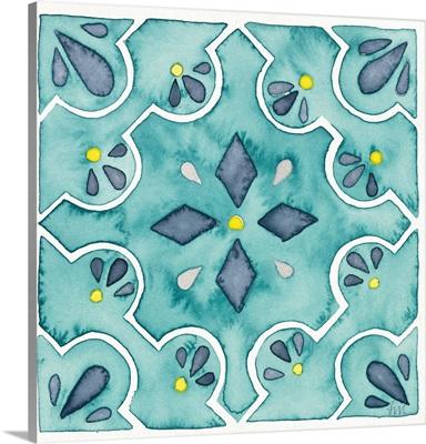 Garden Getaway Tile II Teal