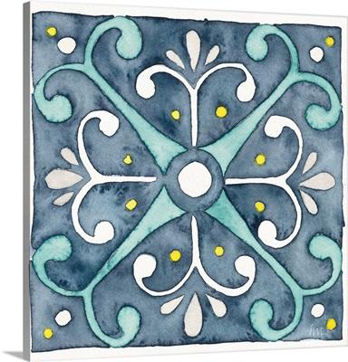Garden Getaway Tile III Blue
