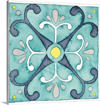 Garden Getaway Tile III Teal