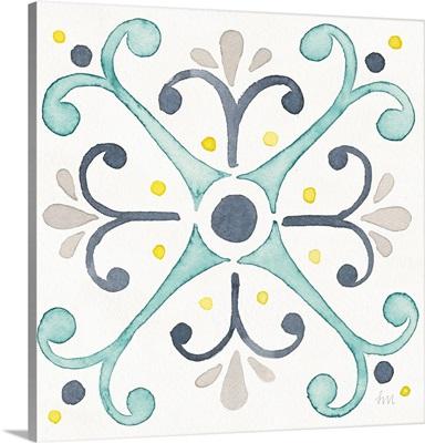 Garden Getaway Tile III White