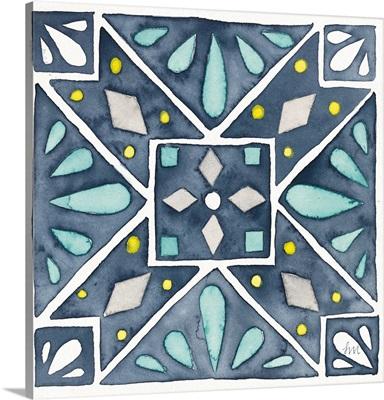 Garden Getaway Tile IX Blue