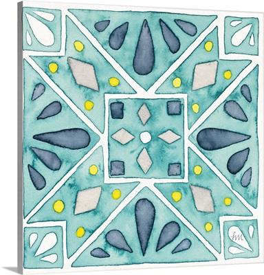 Garden Getaway Tile IX Teal