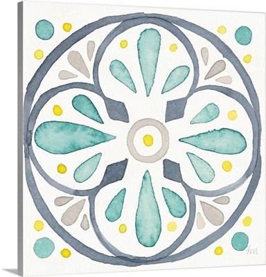 Garden Getaway Tile VI White