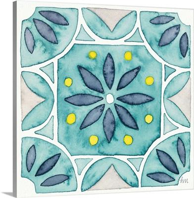 Garden Getaway Tile VIII Teal