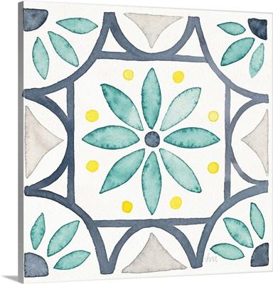 Garden Getaway Tile VIII White