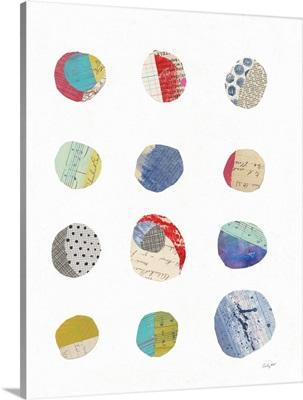 Geometric Collage II on White