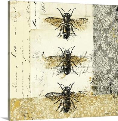 Golden Bees 'n Butterflies I