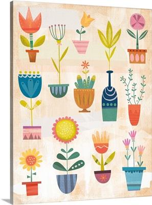 Happy Plants with Texture