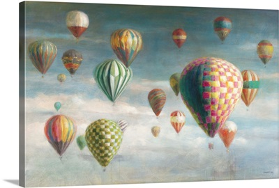Hot Air Balloons with Pink Crop