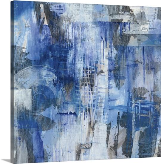 Industrial blue wall art by melissa averinos industrial blue canvas