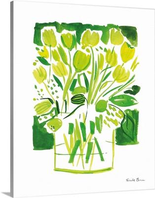 Lemon Green Tulips I