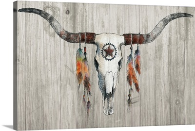 Longhorn on Wood