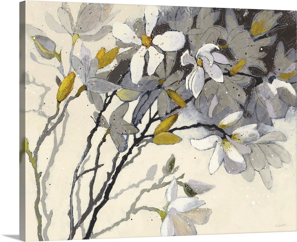 Your item was added to your cart magnolias yellow gray