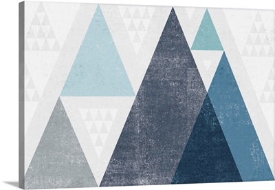 Mod Triangles I Blue