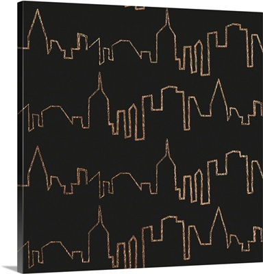 NY Chic Skyline gold on black