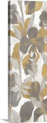 Painted Tropical Screen II Gray Gold Crop