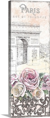 Paris Roses Panel VII