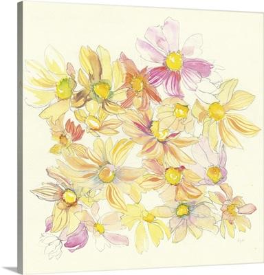 Pastel Garden Daisies
