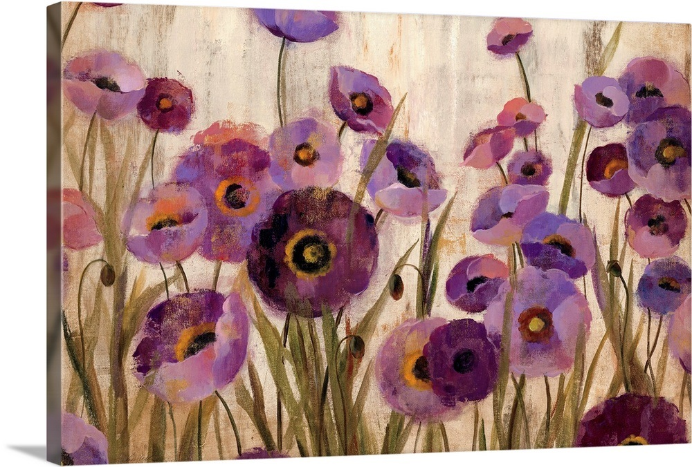 Pink And Purple Flowers Wall Art