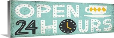 Retro Diner - Open 24 Hours Panel