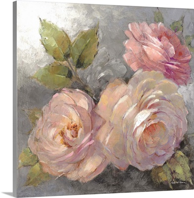 Roses on Gray II Crop