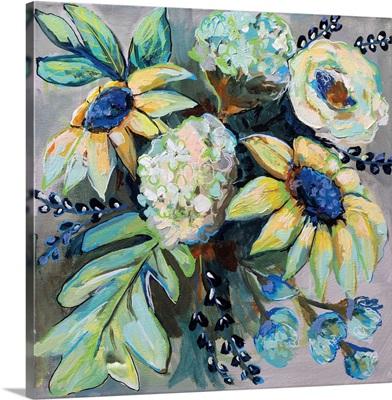 Sage and Sunflowers II