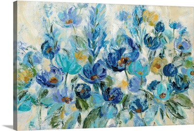 Scattered Blue Flowers
