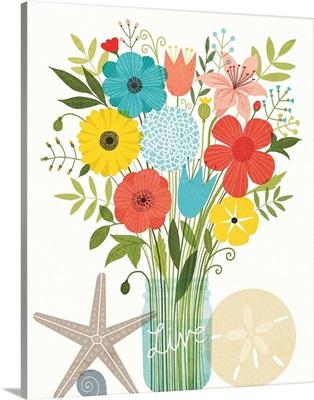 Seaside Bouquet I Mason Jar