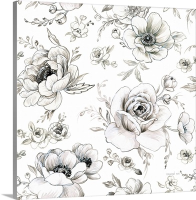 Sketchbook Garden Pattern VA on White