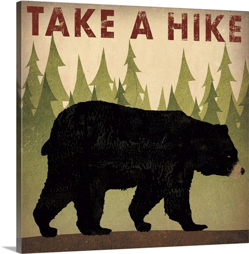 Take a Hike Black Bear Wall Art, Canvas Prints, Framed Prints, Wall ...