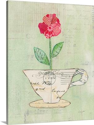 Teacup Floral I on Print