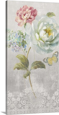 Textile Floral Panel I