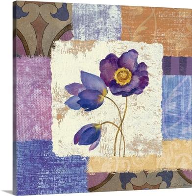 Tiled Poppies I - Purple