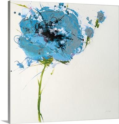 Turquoise Poppy Master on White