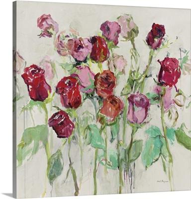 Wild Roses Warm Gray