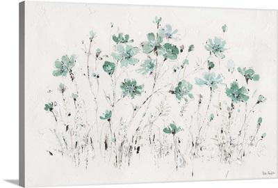 Wildflowers I Turquoise