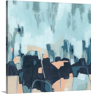 Abstracted Indigo Skyline I