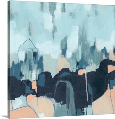 Abstracted Indigo Skyline II