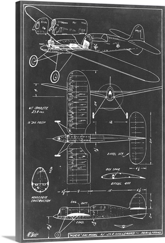 Aeronautic blueprint ii wall art canvas prints framed prints wall aeronautic blueprint ii malvernweather Images