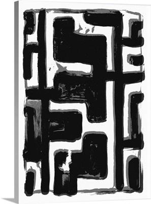African Textile Woodcut III