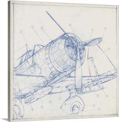 Airplane Mechanical Sketch I