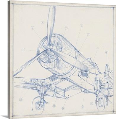Airplane Mechanical Sketch II