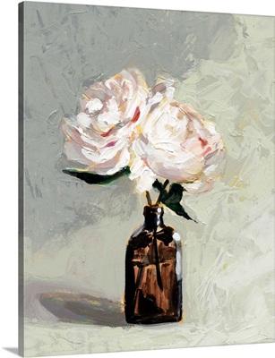 Amber Bottle Flowers II