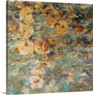 Amber Poppy Field I