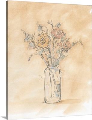 Antique Pastel Floral I