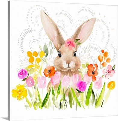 April Flowers & Bunny I