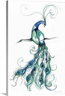 Aquarelle Peacock I
