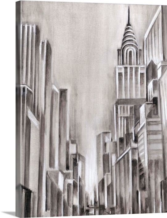 art deco cityscape i wall art canvas prints framed