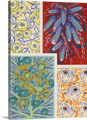 Art Deco Florals V